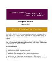 Vastgoed-nieuws - Hekkelman Advocaten & Notarissen