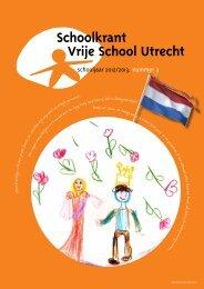 Schoolkrant Lente 2013 - Vrije School Utrecht