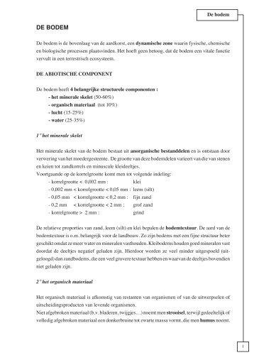 en abiotische component van de bodem (pdf) - V.O.B.