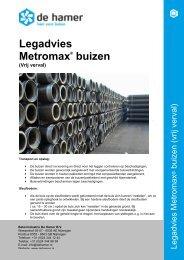 Legadvies Metromax ® buizen Download - De Hamer