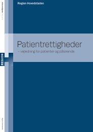Patientrettigheder - vejledning for patienter og pårørende (pdf.-fil