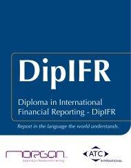 Diploma in International Financial Reporting - DipIFR - Morgan