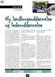 Uddannelse: - Danmarks Landboungdom