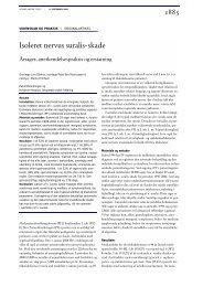 Isoleret nervus suralis- skade - Patientforsikringen