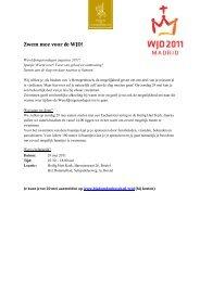 Sponsorlijst: Zwem mee voor de WJD! - Bisdom 's-Hertogenbosch