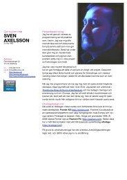 Sven Axelsson CV (sv)