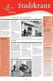 Stadskrant 13 - Gemeente Haarlem