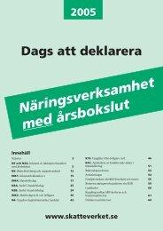 Dags att deklarera näringsverksamhet med årsbokslut - Skatteverket