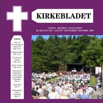 Vojens · jegerup · Maugstrup 28. årgang nr. 3 . august ... - Vojens Kirke