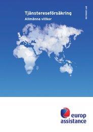 Villkor för Tjänstereseförsäkring - Europ Assistance