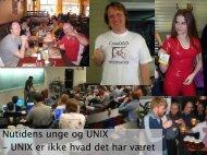 Nutidens unge og UNIX - Dansk Datahistorisk Forening