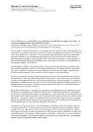 Læs høringssvaret her - Danmarks Apotekerforening