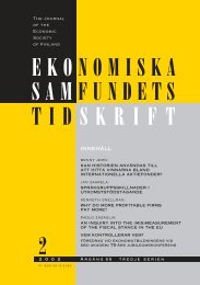 Nummer 2/2002 - Ekonomiska Samfundets tidsskrift