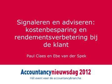 Signaleren en adviseren - Accountancy Nieuws
