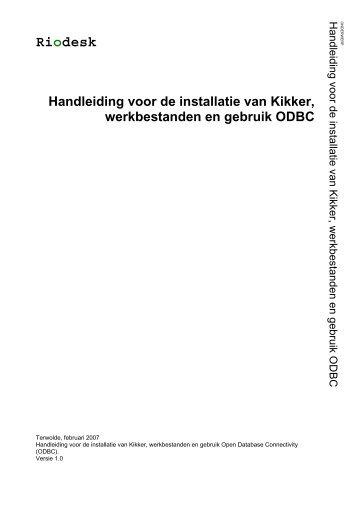 De installatie van Kikker, werkbestanden en gebruik Open ... - Riodesk