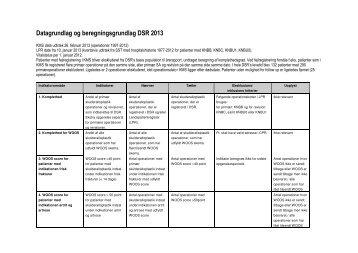 Beregningsregler - KCKS-vest