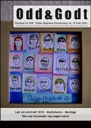 Læs om elevtræf 2010 – Mojitobaren - Mandage ... - Odder Højskole