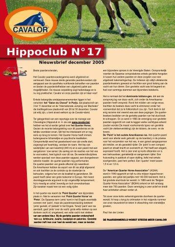Hippoclub Nieuwsbrief nr. 17 - Cavalor