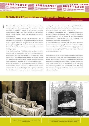 De funeraire kunst, een traditie van intensieve import en export