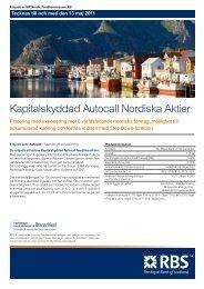 Kapitalskyddad Autocall Nordiska Aktier - Sweden