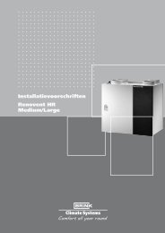Installatievoorschriften Renovent HR Medium ... - Luchtverwarming