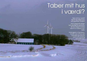 Ny mytedræber: Taber mit hus i værdi? - Danmarks Vindmølleforening