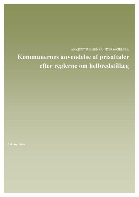 Kommunernes anvendelse af prisaftaler - Ankestyrelsen