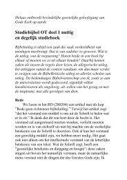 StandVastig Juni 2006 - Studiebijbel OT deel 1 nuttig en degelijk ...
