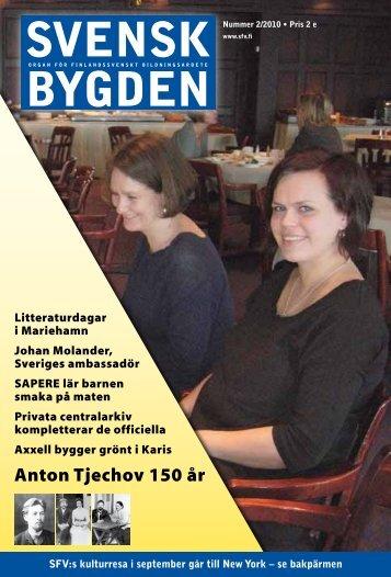 Svenskbygden 2-2010 - Svenska folkskolans vänner