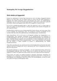 Skattepolicy - Publikationer från Sveriges Byggindustrier