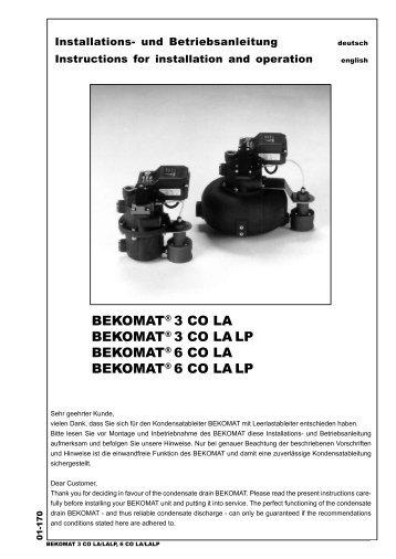BEKOMAT® 3 CO LA BEKOMAT® 3 CO LA - BEKO Technologies ...