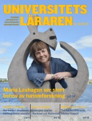 Maria Lexhagen ser stort behov av turismforskning sid 14 - Sulf