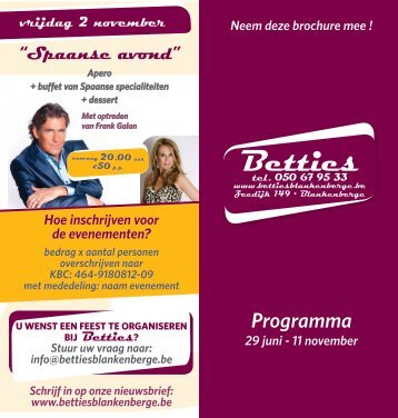 Programma - Betties