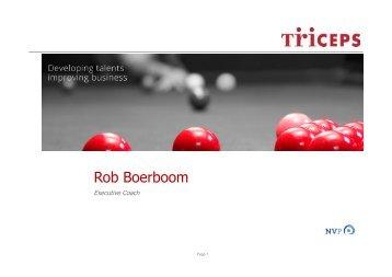 Presentatie Rob Boerboom - Triceps - NVP