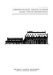 plannen linkervleugel grote kliniek oude veeartsenschool - FirstImmo