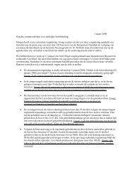 1 maart 2006 Geachte commissieleden voor stedelijke ontwikkeling ...