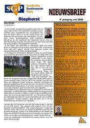 Nieuwsbrief 2008 voorjaar - SGP Staphorst