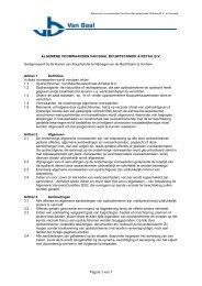Pagina 1 van 7 ALGEMENE VOORWAARDEN VAN BAAL ...