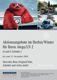 Aktionsangebote im Herbst/Winter für Ihren Atego/Ln 2