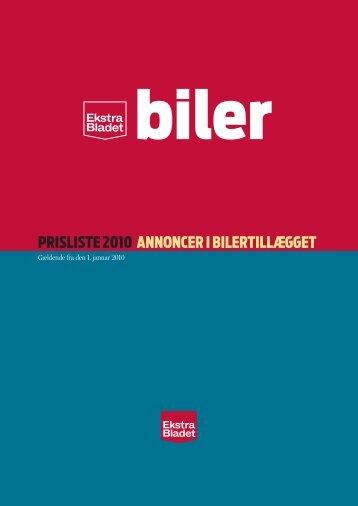 Biler 2010 - Ekstra Bladet Salg