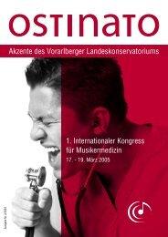 Akzente des Vorarlberger Landeskonservatoriums