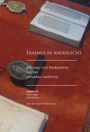 Erasmus in Anderlecht - The Erasmus House