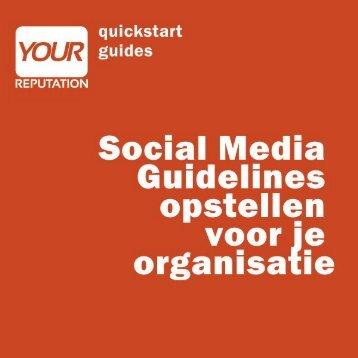 miniguide: social media guidelines - Home - Marcel Olislagers