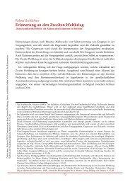 Erinnerung an den Zweiten Weltkrieg - Südosteuropäische Hefte