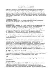 EQ5D som utvärderingsinstrument för äldre strokedrabbade