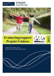 S-faktor evalueringsrapporten Struer Kommune