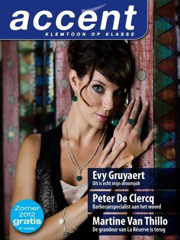 Martine Van Thillo Peter De Clercq Evy Gruyaert - accent magazine
