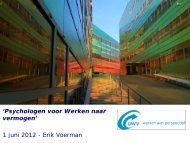 presentatie - congres Psychologen voor Werken naar Vermogen