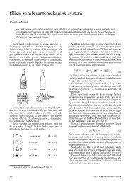 Øllen som kvantemekanisk system