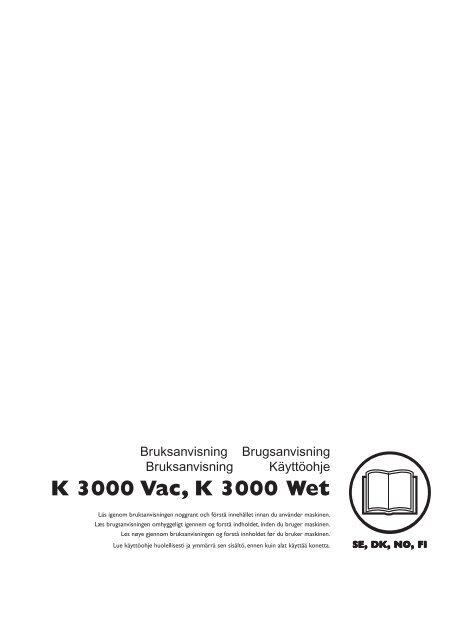 OM, K 3000 Vac, K 3000 Wet, 2011-09, SE, DK, NO, FI - Husqvarna
